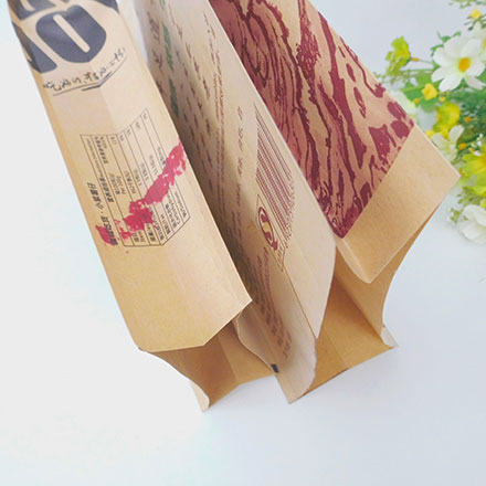 China Heat Seal Ziplock Stand Up Food Packing Recycled Kraft Paper Bag