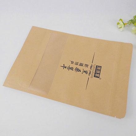 Printed Brown Plastic Lined Zipper Food Kraft Paper Bag For Milk Powder