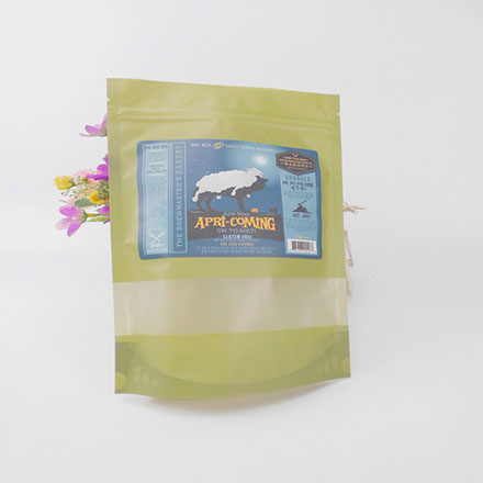 Flat Bottom Stand Up Plastic Bags For Food Packaging
