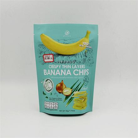 China Supplier Wholesale matt laminated aluminum foil stand up banana chips food bag