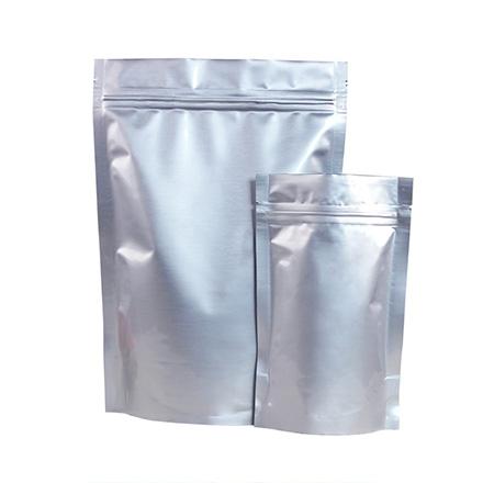 Wholesale resealable zip lock silver mylar aluminum foil bags