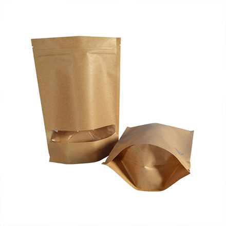 Aluminum Foil Custom Printing Laminated Kraft Paper Flat Bottom Coffee Packaging Bag