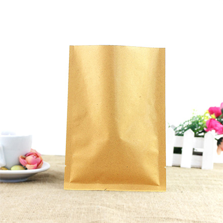 Low Price Top Sale Foil 3 Side Seal Paper Kraft Bag